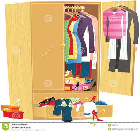 guardaroba abbigliamento guardaroba sudicio dell abbigliamento illustrazione