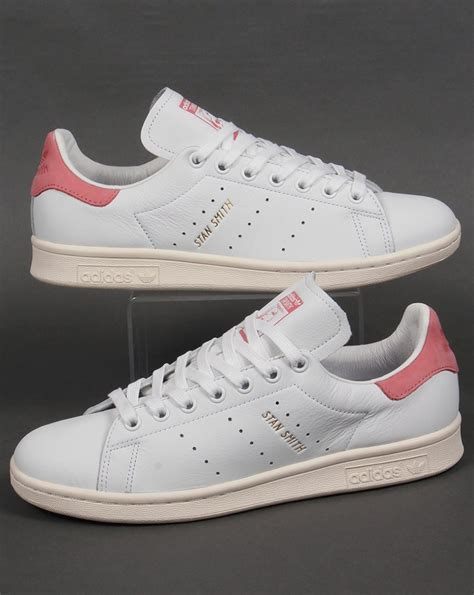 Adidas Stan Smith Trainers White/Pink,originals,shoes,mens