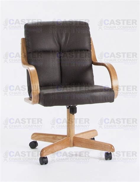 casual caster dining arm chair swivel tilt oak wood set