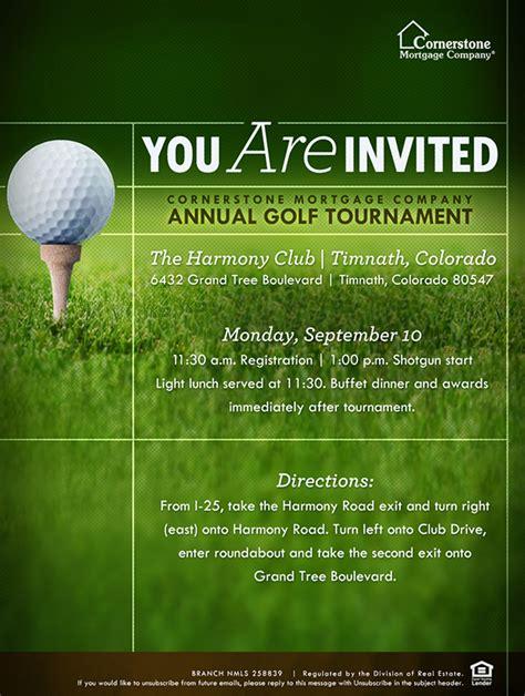 cornerstone annual golf tournament collateral  behance