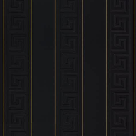 versace greek stripe wallpaper black gold