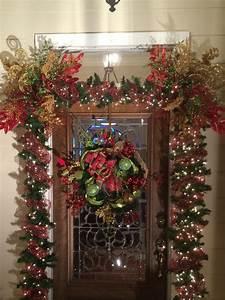 Front, Door, Garland, Christmas, Wreath