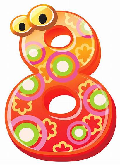 Number Clipart Eight Numbers Transparent Decorative Cliparts