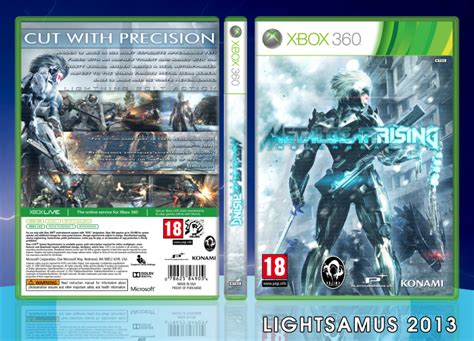 metal gear rising cover metal gear rising revengeance xbox 360 box art cover by