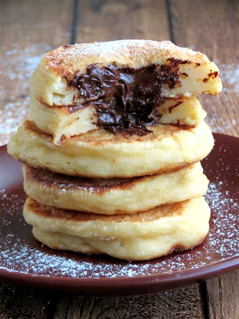 cottage cheese pancakes cottage cheese pancakes with chocolate filling