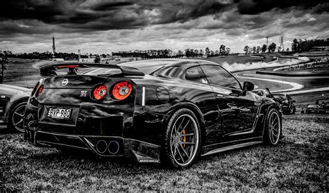 Saloon Cars, Monochrome, Nissan Gtr, Car Wallpapers Hd