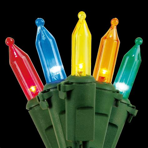 home accents holiday 100 light led multi color mini light