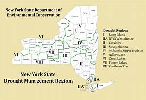 New York State Drought Management Regions And Map Of