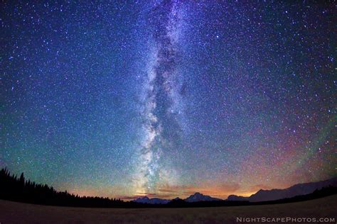 Big Starry Night Sky Wide Angle Panoramic View 180