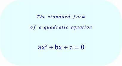 Quadratic Standard Form Equation Equations Examples Ax