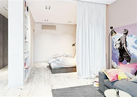 separation salon chambre la séparation de pièce amovible optez pour un rideau