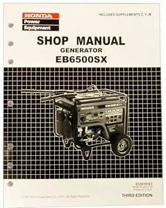 Honda Eb6500 Generator Manual