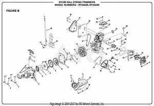 Homelite Ry34440 30cc String Trimmer Parts Diagram For