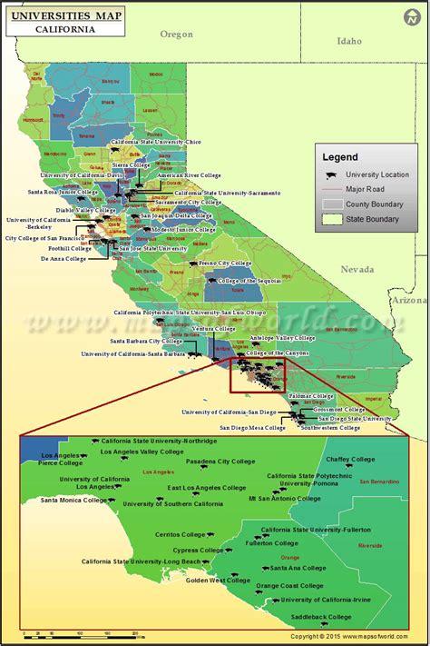 buy california map  universities  colleges