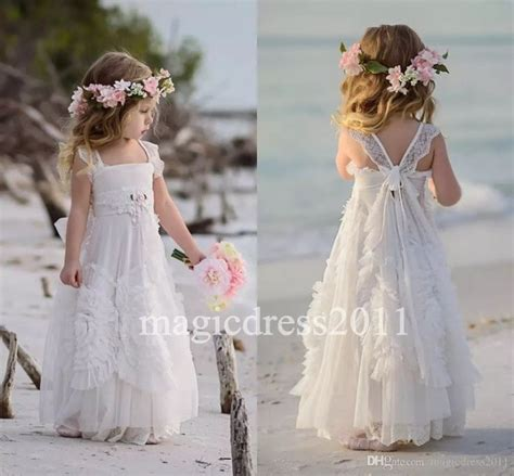 flower girl beach wedding dress images  pinterest