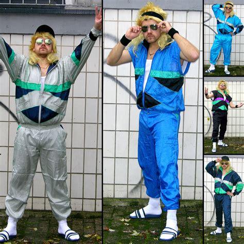 verkleidung 80er 80er jahre retro trainingsanzug asi assi anzug karneval kost 252 m verkleidung ebay