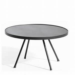 Table Exterieur Ronde : table basse ronde de jardin le bois chez vous ~ Teatrodelosmanantiales.com Idées de Décoration