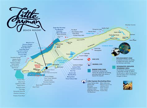 cayman resort dive map beach diving islands site scuba grand resorts location divers snorkeling reef mostly current pace own travel