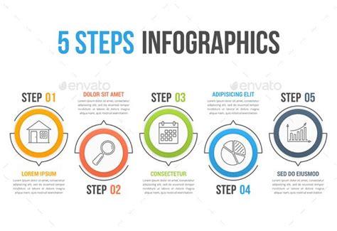 steps infographics template psd vector eps ai