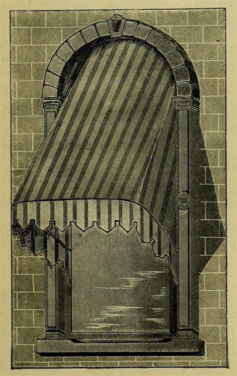 vintage ephemera catalog illustration window awning