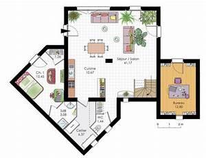 maison moderne detail du plan de maison moderne faire With plan de maisons modernes