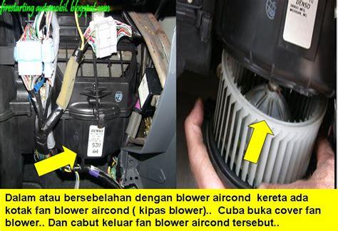 fire starting automobil diy service blower aircond kereta