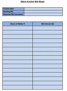Silent Auction Bid Sheets Free 14 Silent Auction Forms Templates Templates Assistant