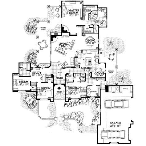 adobe floor plans adobe southwestern style house plan 4 beds 3 baths 2982 sq ft plan 72 339