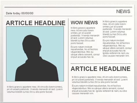 newspaper template docs 10 best images of docs newspaper article template docs newspaper template blank