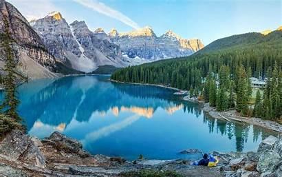Canadian Mountains Rockies Lake Canada Moraine Incredible