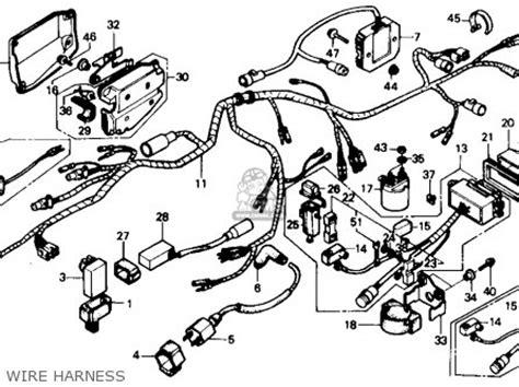 89 Yamaha Moto 4 Wiring Diagram by Honda Trx350d 1988 Fourtrax Foreman 4 X 4 1988 J Usa