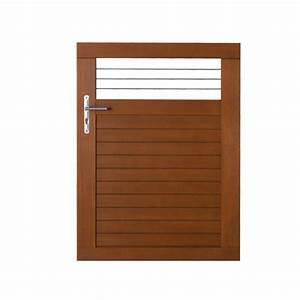 Lapeyre Portail Bois : portillon bois fontaine gamme confort lapeyre idees ~ Premium-room.com Idées de Décoration
