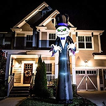 amazoncom halloween inflatable colossal  reaper