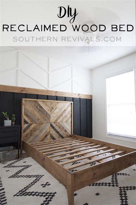 diy reclaimed wood bed west elm inspired reclaimed