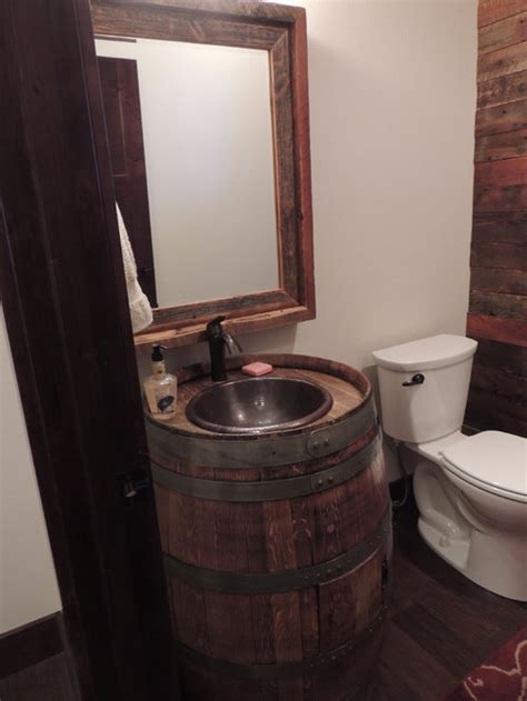 whiskey barrel sink ideas pictures remodel  decor