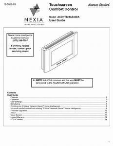 American Standard Acont900ac43ua User Guide