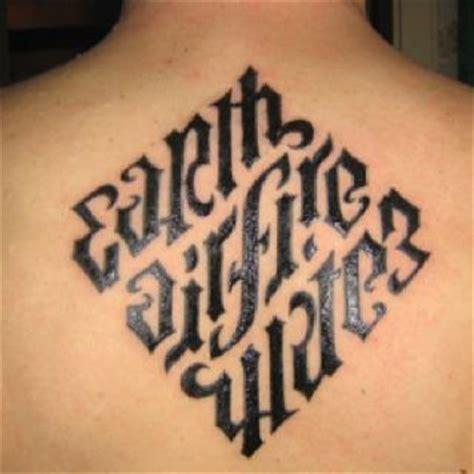 anagram tattoo earthairfire water tattoos