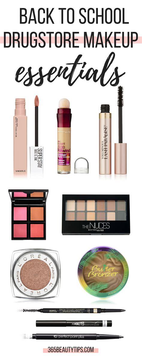 school drugstore makeup essentials beautytips