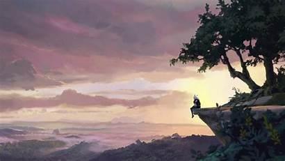 Dragon Prince Rayla Netflix Nature Sky Scenes