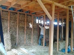 maison en paille et en ossature bois autoconstruction With maison ossature bois isolation paille