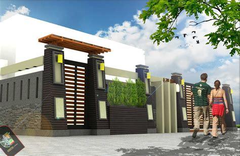 lihat  model pagar rumah minimalis type  desain modern