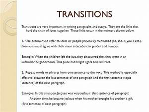 transitions for a research paper