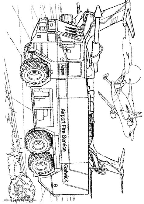 fire tanker truck gmc coloring page coloring pages printablecom