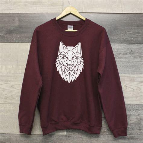 wolf sweater wolf crewneck sweatshirt by stencilize