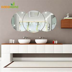 Background decorative wall stickers 3D mirror wall ...