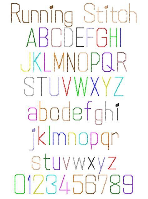 running stitch  internet stitch home format fonts  embroiderydesignscom