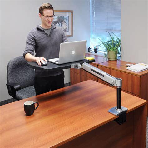 Ergotron Sit Stand Desk Mount by Ergotron Workfit P Sit Stand Workstation