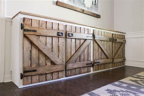 upcycled barnwood style cabinet diy kitchen cabinets