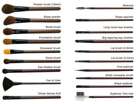 list of all makeup brushes and their uses saubhaya makeup