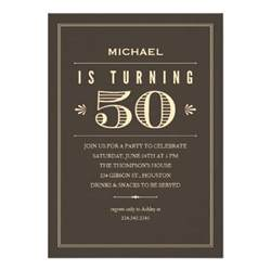 custom invites 50th birthday invitations for men 5 quot x 7 quot invitation card